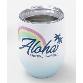 【Kahiko】Aloha レインボータンブラー ブルー