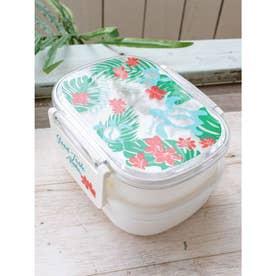 【Kahiko】アロハホヌ2段ランチボックス お弁当箱 ホワイト×グリーン