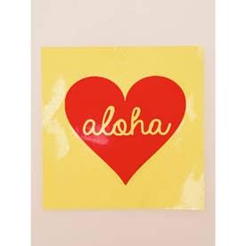 【kahiko】Hawaiian Sticker ハートアロハ レッド
