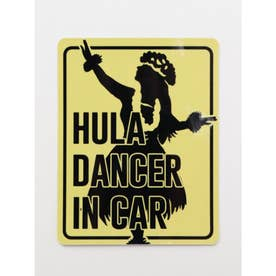 【Kahiko】-HAWAIIAN STICKER- HULA DANCER IN CAR イエロー