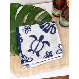 【Kahiko】ホヌジャガード織りウォッシュタオル ホワイト