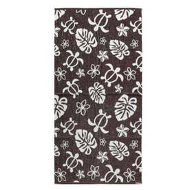 【Kahiko】ホヌジャガード織りバスタオル ブラウン