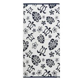 【Kahiko】ホヌジャガード織りバスタオル ホワイト