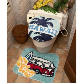 【Kahiko】HAWAIIAN TOILETRY COVER&MAT / トイレセット ハワイトリップ ブルー