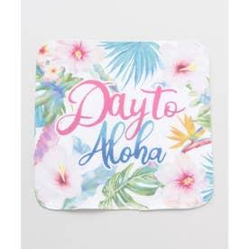 【Kahiko】ハワイアンボタニカルガーゼタオルハンカチ ピンク