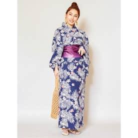 【Kahiko】リーフセパレート浴衣 ネイビー