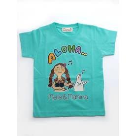 【kahiko】メレ&マヒナ KID'S Tシャツ110cm ブルー