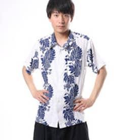【Kahiko】ウルウルMEN'Sアロハシャツ ホワイト