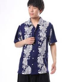【Kahiko】ウルウルMEN?Sアロハシャツ ネイビー