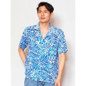 【Kahiko】ハワイアン柄メンズアロハシャツ ブルー系その他