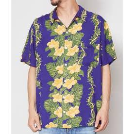 【Kahiko】アロアロMEN'Sアロハシャツ ネイビー