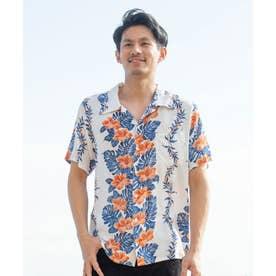 【Kahiko】アロアロMEN'Sアロハシャツ ホワイト