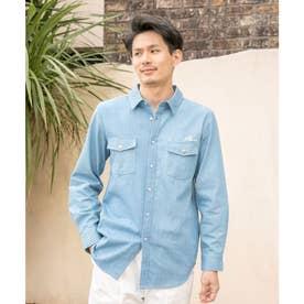【Kahiko】ポーマイダンガリーMEN'Sシャツ ライトブルー