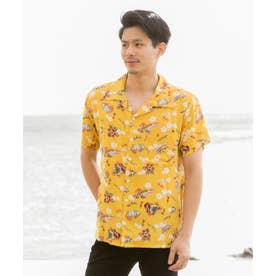 【Kahiko】ウクレロMEN'Sアロハシャツ イエロー