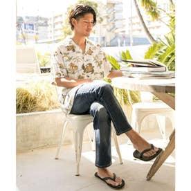 【Kahiko】TWO PALMS タートルズMEN'Sアロハシャツ ホワイト