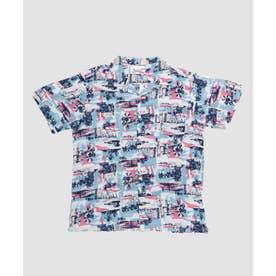 【Kahiko】リノカイMEN'Sアロハシャツ ブルー