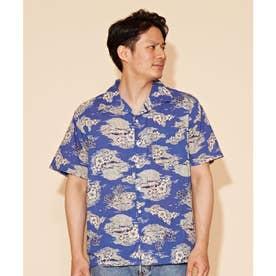 【Kahiko】プアスイMEN'Sアロハシャツ ネイビー