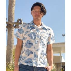 【Kahiko】プアスイMEN'Sアロハシャツ ホワイト
