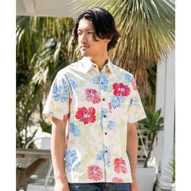 【Kahiko】カウホラMEN'Sアロハシャツ ベージュ