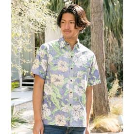 【Kahiko】カウホラMEN'Sアロハシャツ ブルー