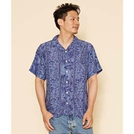 【Kahiko】ティタパMEN'Sアロハシャツ ネイビー