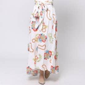 【Kahiko】パイナップル&レイサッシュスカート / ワンピース オフホワイト