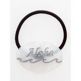 【Kahiko】Alohaウェーブヘアゴム ホワイト