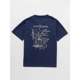 【Kahiko】MALIBU SHIRTS パターンTシャツ ネイビー