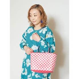 【カヤ】亀甲編みかごバッグ ピンク
