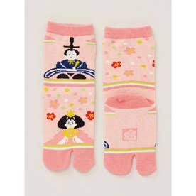 【カヤ】おひなさま足袋型くつ下15~17cm ピンク