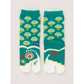 【カヤ】緑鯉のぼり足袋15~17cm グリーン