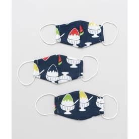 【カヤ】守衣 ーMAMORI KOROMOー 高島ちぢみマスク 子ども用 ネイビー【返品不可商品】