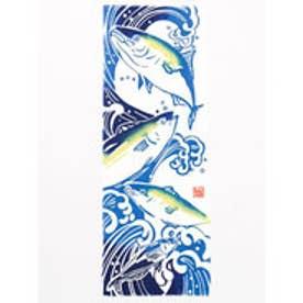 【カヤ】注染手ぬぐい 出世魚 ホワイト×ブルー
