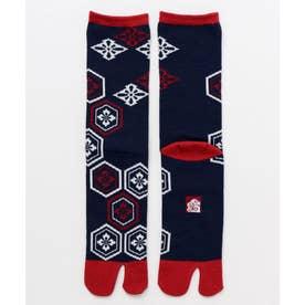 【カヤ】足袋型くつ下25-28cm 亀甲紋 レッド