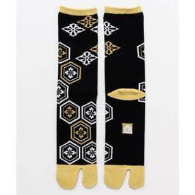 【カヤ】足袋型くつ下25-28cm 亀甲紋 イエロー