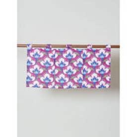 【カヤ】日本の花々 ミニ暖簾 ピンク