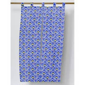 【カヤ】日本の花々暖簾 ブルー