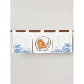 【カヤ】日本の縁起物 ミニ暖簾 ホワイト
