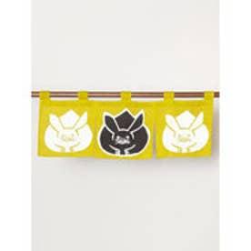 【カヤ】日本の縁起物 ミニ暖簾 イエロー