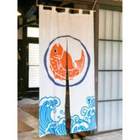 【カヤ】日本の縁起物 暖簾 ホワイト