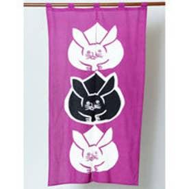 【カヤ】日本の縁起物 暖簾 パープル