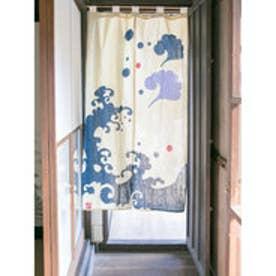 【カヤ】和モダン渋色暖簾 ベージュ
