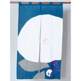 【カヤ】和の暖簾 ホワイト×ブルー