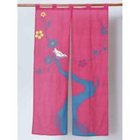 【カヤ】和の暖簾 ピンク