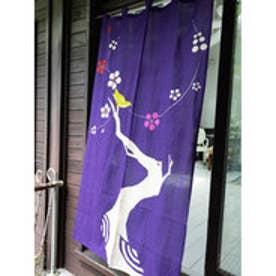 【カヤ】和の暖簾 パープル