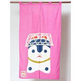 【カヤ】日本の民芸 長暖簾 ピンク