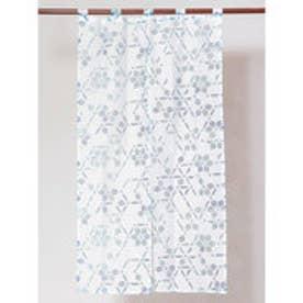 【カヤ】麻の葉透かし模様長暖簾 ブルー