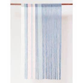 【カヤ】和モダン紐暖簾 ブルー