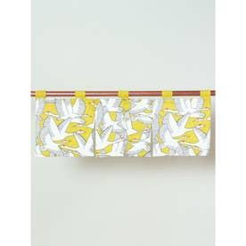 【カヤ】鶴の短暖簾 イエロー