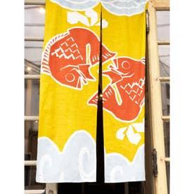 【カヤ】和柄長暖簾 鯛 イエロー